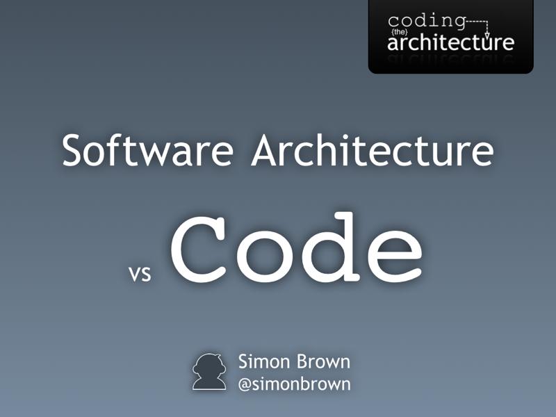 Software architecture vs code