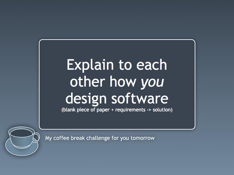 Coffee break challenge